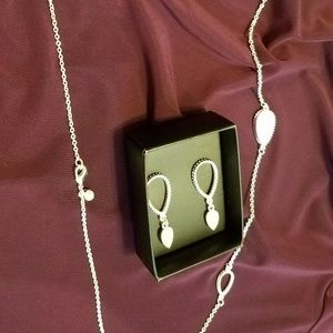 Necklace with earrings and a bracelet